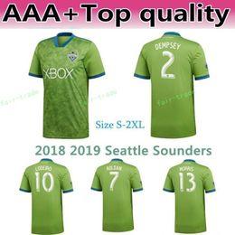 b55d9affb 2018 2019 MLS Seattle Sounders Jersey Men Soccer 2 DEMPSEY 13 MORRIS 29  TORRES 6 ALONSO 17 BRUIN Football Shirt Kit Team Green