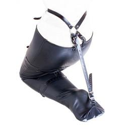$enCountryForm.capitalKeyWord UK - PU Leather Bondage Restraint Bag Belt Leg Binders Slave Ankle Restraints Bundled Binding Erotic Sex Toys Game Product
