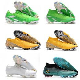 Botines de fútbol para niños Mercurial Superfly VI 360 Elit FG Zapatos de  fútbol para niños Hombres Botas de fútbol Tobillo alto Cristiano Ronaldo CR7  us3- ... 5818a9e43e3a5
