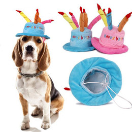 Creative Dog Birthday Hat With Cake And Candles Design Pets Puppy Cap Cute Hats Supplies Accessories Headwear