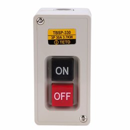China New TBSP-330 3 Phase ON OFF Lock Tend Push Button Switch Station 3.7Kw 30A For Textile Machinery supplier locking push switch suppliers