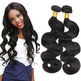 Cheap Virgin Human Hair Extensions Australia - New Arrivals Brazilian Body Wave Virgin Hair Weaves 4 Pieces Lot Sale Cheap 7a Virgin 100% Human Hair Extensions Natural Black