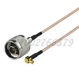 Straight Cables NZ - 0.7ft 20cm RF MCX male Right angle to N Plug male Straight RG316 Pigtail Cable Antenna Feeder cable assembly
