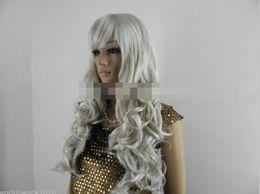 $enCountryForm.capitalKeyWord Australia - Free shipping+++NEW grey white long curly full wig