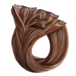China Wavy clip in hair extension Wholesale 100% real natural virgin best remy human hair Mix color P4 8 cheap real wavy human hair extensions suppliers