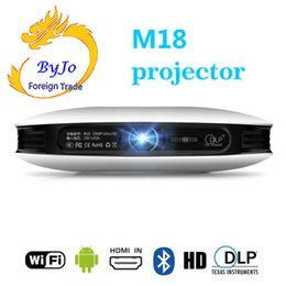 $enCountryForm.capitalKeyWord Australia - M18 Projector 3D 1080P Android WIFI 2G 16G 4K Home Theater Cinema Proyector Beamer Support AirPlay Miracast Built-in battery Also called D08