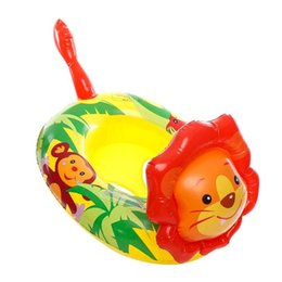 $enCountryForm.capitalKeyWord UK - Cute Cartoon Lion Shape Baby Inflatable Floats Seat Thicken Swimming Ring for Swimming Pool Floats Accessories