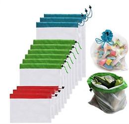 Door bag net online shopping - Polyester Bundle Pocket Fashion Folding Splicing Reticular Net Cloth Storage Bags Drawstring Bag For Home qc F F