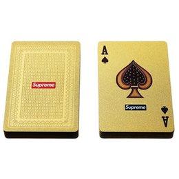 Игральные карты цвета золота логотипа Моды покера золота игрушки ФВ 13С роскошные на Распродаже