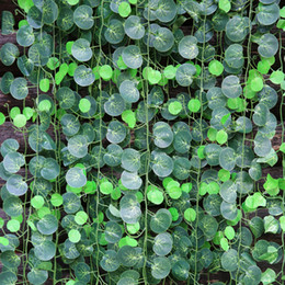 climbing vines NZ - Festive Length 200cm 12pcs  Lot Bar Restaurant Decoration Artificial Plants Climbing Vines Green Leaf Ivy Home Decor Plants