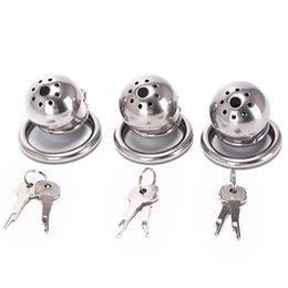 steel cock sounds 2019 - 40 45 50mm Male Chastity Cage With Removable Urethral Sounds Spiked Ring Stainless Steel Chastity Device Cock Belt Party