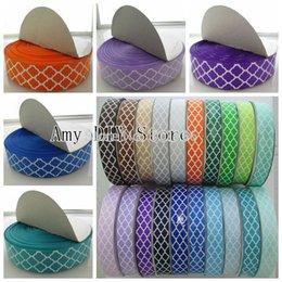 $enCountryForm.capitalKeyWord Australia - Myamy 50yards Lot 1'' Quatrefoil Printed Grosgrain Ribbon For Girls Clothing Shoes Party Accessories Headbands Free Shipping