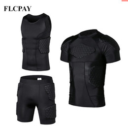 China New Honeycomb Sports Safety Protection Gear Soccer Goalkeeper Jersey+Shorts+ Vests Outdoor Football Padded Protector Gym Clothes cheap soccer jersey outdoors suppliers