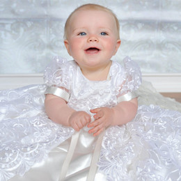 $enCountryForm.capitalKeyWord NZ - Lovely White First Communion Dresses Chrisom Lace Applique Short Sleeve Baby Christening Gowns Baptism Outfits Robes De Fête