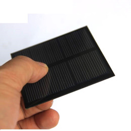 5v mini solar panel UK - BUHESHUI 0.7W 5V Mini Solar Panel Polycrystalline Solar Cell Small Power 3.7V Battery Charger Light DIY Toy Panel Study 70*70MM
