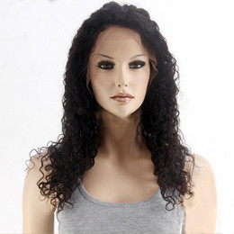 Kinky Peruvian Lace Wig Australia - Z&F Black Human Hair Full Lace Wigs Natural Hairline Kinky Curly Peruvian Virgin Hair For Women