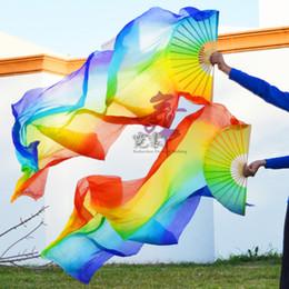 $enCountryForm.capitalKeyWord NZ - dance fan 100% silk unisex high quality Chinese silk veils dance fans 1Pair Left+Right hand belly dancing fans cheap hot sale 150 180*90cm