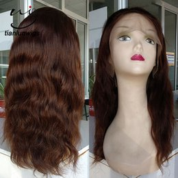 high quality wigs NZ - cheap price high quality human hair 130% density full lace front wig natural straight hair everyday wig for women