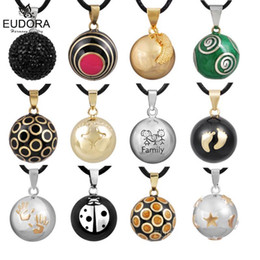 $enCountryForm.capitalKeyWord Australia - Retail Eudora Pregnancy Ball Jewelry Gift Chime Ball Mexican Bola Belly Sounds Pendant Harmony Bola Pendants Necklace Gift