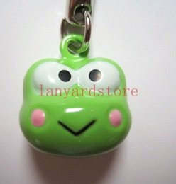 Strap Neko Australia - Hot lot ! Green Cute Frog Small bell Neko Lucky Hanging Charm   Cell Phone Strap Pendant Party gifts free shipping