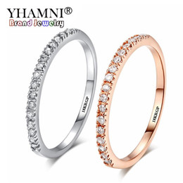 Original stamp online shopping - YHAMNI Original KGP Stamp Gold Filled Ring Set Austrian Crystals Jewelry Ring New Fashion Jewelry Gift ZR133