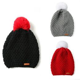 2018 Winter Hat Women Warm Wool Knit Beanie Large Fur Pom Bobble Hat  Knitted Ski Cap New Fashion 571d298c109