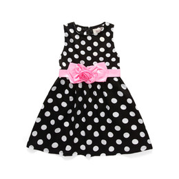 Summer Decor Canada - AiLe Rabbit New Kids Girl's Sweet Sundress Dot Floral Decor Bubble Dress Pleated Casual Summer Dress