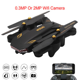 Helicopters Toys Camera Australia - Xs809W Upgraded Version Drone XS809S Shark Foldable Selfie RC Helicopter With Camera Altitude Hold FPV WiFi Quadcopter Toys