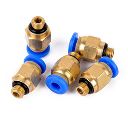 Pneumatic connectors online shopping - 5pcs PC4 M6 mm Tube Straight Pneumatic Fitting Connectors For Hardware Accessories
