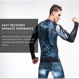 men sports suits NZ - wholesale Fitness suits men sporting suits long - sleeved fast - drying shapewear uniforms tights suits cold clothing