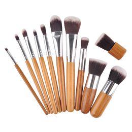 Professional makeuP tools online shopping - Professional brush bamboo handle makeup brushes make up brush set cosmetics brush kits tools