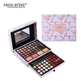 Wholesale Professional Flower Makeup Cosmetic Set Gift For Women Eyeshadow Lipstick Concealer Blush Mirror Kits Make Up Brand MISS ROSE