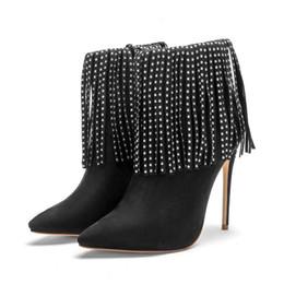 32a3734f08a Black Fringe High Heel Boots Online Shopping | Black Fringe High ...
