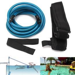 $enCountryForm.capitalKeyWord NZ - Newest 4m Adjustable Adult Kids Swimming Bungee Exerciser Leash Training Hip Swim Belt Cord Safety Swimming Pool Accessories