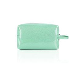 China Fashion women cosmetic pouch bag waterproof pearl bright PU make up zip bag brushes, lipsticks organizer storage bag M L size suppliers