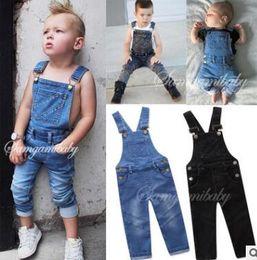 jeans kids suspenders boys 2018 - Retro Unisex Overalls Baby Boys Pants Infant Overalls Baby Girls Clothes Spring Autumn Jeans Kids Jumpsuit Cotton Denim