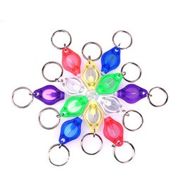 $enCountryForm.capitalKeyWord Australia - Mini Torch Keychains Ring LED Key Chains 7 Colors Light Plastic Key Chains Ring UV LED Light Shell Color Randomly Accessories
