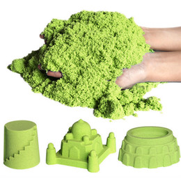 China 7TECH Kinetic sand for Creative DIY Sand Art Activities Green Colors Nontoxic Sensory Play Sand Kit Idea for children and Adults Toy suppliers