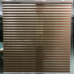 $enCountryForm.capitalKeyWord Australia - Zebra Blinds Horizontal Window Shade Double layer Roller Blinds Window Custom Cut to Size Brown Curtains for Living Room H04017