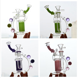 "$enCountryForm.capitalKeyWord NZ - Recycler Glass Dab Rig Inline Showerhead Perc 6"" inch Bubbler Water Pipe Pink Beaker Bong Smoking Pipe Portable Oil Rig Hookah 14mm Joint"