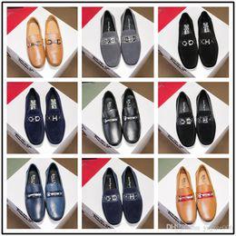 Top marca de luxo Sapatos de Couro Genuíno de veludo boca Rasa estilo celebridade senhores de couro de porco forro sapatos tamanho grande 38-44