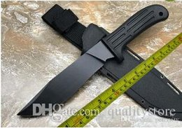 Custom fixed blade knives online shopping - Rare Custom D2 Blade HRC Tactical Survival Combat hunting bowie field jungle knife gear tool fightting karambit mission purpose Knife