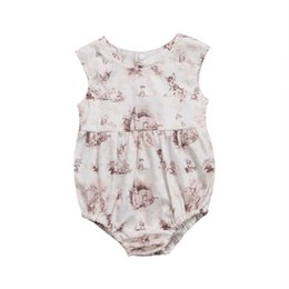 Chinese  Pudcoco 0-24M Newborn Infant Baby Girl 2017 Deer Sleeveless Print Bodysuit Casual Anime Jumpsuit Clothes Outfits manufacturers
