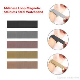 Großhandel 1 stücke up uhrenarmband 38mm 42mm milanese schleife magnetische edelstahl armband mit adapterstecker für apple watch serie