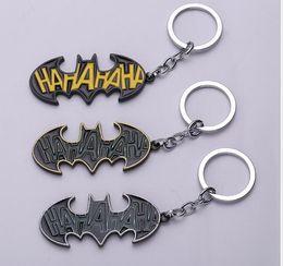 $enCountryForm.capitalKeyWord UK - Cartoon Batman Keychain Superhero Movie Batman Bat Logo Alloy Key Ring for Fans Good Gift porte clef Chaveiro