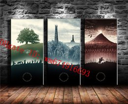 lord rings figures 2020 - The Lord of the Rings-2 , 3 Pieces Home Decor HD Printed Modern Art Painting on Canvas (Unframed Framed) discount lord r
