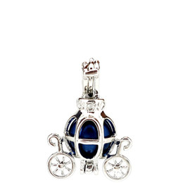 $enCountryForm.capitalKeyWord UK - Silver Copper Fairy Tale Carriage Car Oysters Pearl Beads Cage Locket Pendant Aromatherapy Perfume Essential Oils Diffuser