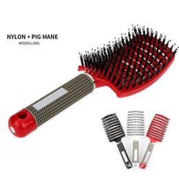 $enCountryForm.capitalKeyWord Australia - New Hot Bristle Hair Brush Nylon Detangle Hairbrush Women Hair Scalp Massager Comb for Salon Hairdressing Comb Styling Tools