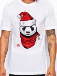 T Shirt Digital Printing Sport Australia - New fashion summer men's personality Christmas panda digital printed T-shirt male sports T-shirt top Cultivate one's morality