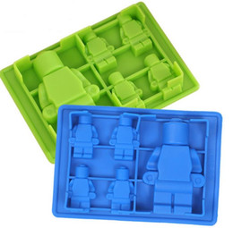 $enCountryForm.capitalKeyWord UK - New robot Cocktails Silicone Mold Ice Cube Tray Chocolate Fondant Mould diy Bar Party Dessert Tools